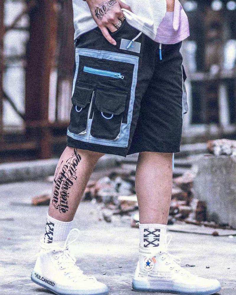 サイドベルトカーゴショートパンツ ハーフパンツ メンズの商品画像2